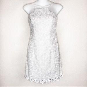 Lilly Pulitzer Katie white cut-in shift dress 00
